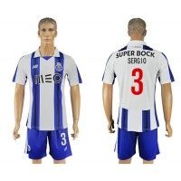 Oporto #3 Sergio Home Soccer Club Jersey