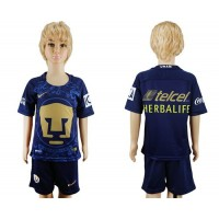 Pumas Blank Away Kid Soccer Club Jersey
