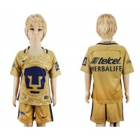 Pumas Blank Home Kid Soccer Club Jersey