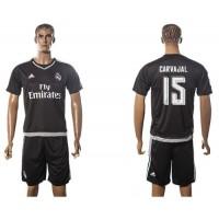 Real Madrid #15 Carvajal Black Soccer Club Jersey
