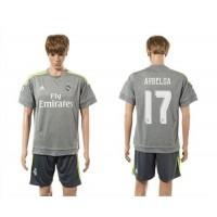 Real Madrid #17 Arbeloa Away (Dark Grey Shorts) Soccer Club Jersey