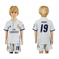 real madrid 19 modric white home kid soccer club jersey