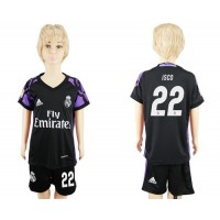 Real Madrid #22 Isco Black Kid Soccer Club Jersey