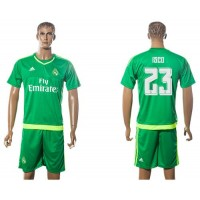 Real Madrid #23 Isco Green Goalkeeper Soccer Club Jersey
