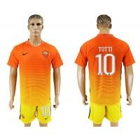 Roma #10 Totti Sec Away Soccer Club Jersey