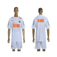 Santos Personalized White & Orange Font Home Soccer Club Jersey