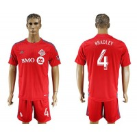 Toronto FC #4 Bradley Home Soccer Club Jersey