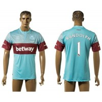 West Ham United #1 Randolph Away Soccer Club Jersey