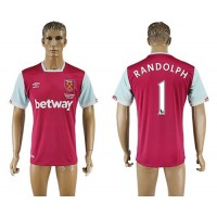 West Ham United #1 Randolph Home Soccer Club Jersey