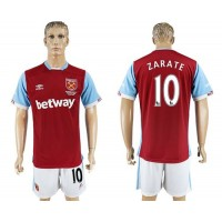 West Ham United #10 Zarate Home Soccer Club Jersey