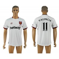 West Ham United #11 Valencia Away Soccer Club Jersey