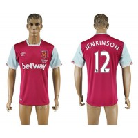 West Ham United #12 Jenkinson Home Soccer Club Jersey