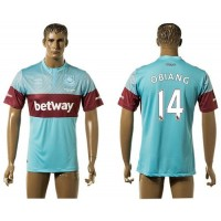 West Ham United #14 Obiang Away Soccer Club Jersey