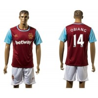 West Ham United #14 Obiang Home Soccer Club Jersey