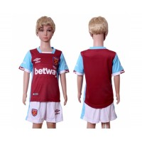 West Ham United Blank Home Kid Soccer Club Jersey