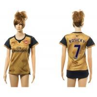 Women's Arsenal #7 Rosicky Gold Soccer Club Jersey