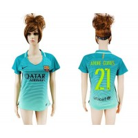 Women's Barcelona #21 Andre Gomes Sec Away Soccer Club Jersey