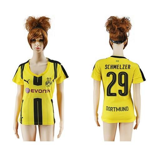 42b82a34414 Women s Dortmund  29 Schmelzer Home Soccer Club Jersey