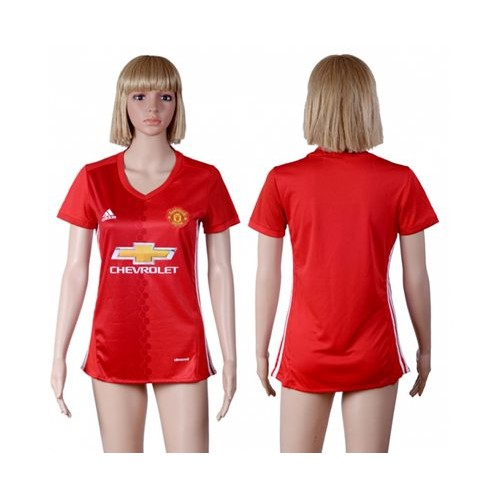 low priced af2ef 22134 Women's Manchester United Personalized Red Home Soccer Club ...