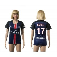 Women's Paris Saint-Germain #17 Maxwell Home Soccer Club Jersey