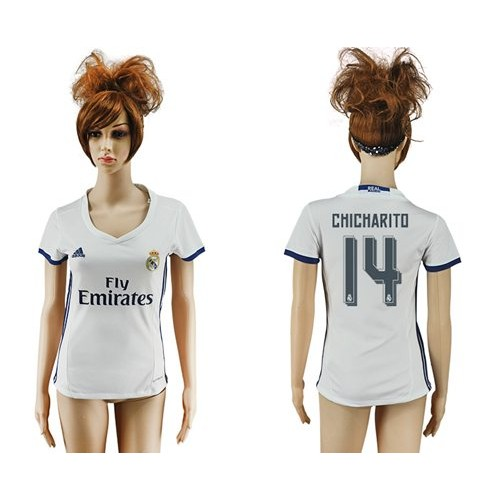 3c33c1d10 Women s Real Madrid  14 Chicharito Home Soccer Club Jersey