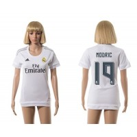Women's Real Madrid #19 Modric Home Soccer Club Jersey