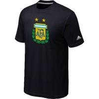 Adidas Argentina 2014 World Short Sleeves Soccer T-Shirts Black