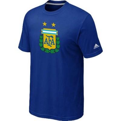 Adidas Argentina 2014 World Short Sleeves Soccer T-Shirts Blue
