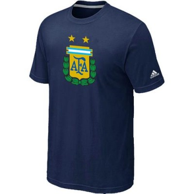 Adidas Argentina 2014 World Short Sleeves Soccer T-Shirts Dark Blue