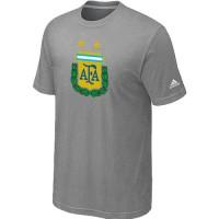 Adidas Argentina 2014 World Short Sleeves Soccer T-Shirts Light Grey