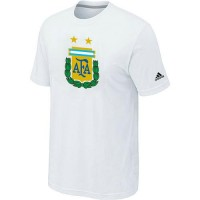 Adidas Argentina 2014 World Short Sleeves Soccer T-Shirts White
