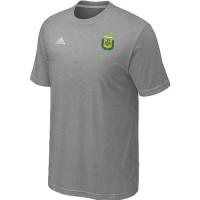 Adidas Argentina 2014 World Small Logo Soccer T-Shirts Light Grey