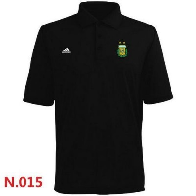 Adidas Argentina 2014 World Soccer Authentic Polo Black