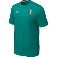 Adidas Mexico 2014 World Small Logo Soccer T-Shirts Green