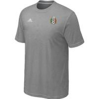 Adidas Mexico 2014 World Small Logo Soccer T-Shirts Light Grey