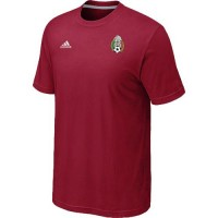 Adidas Mexico 2014 World Small Logo Soccer T-Shirts Red