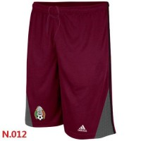 Adidas Mexico 2014 World Soccer Performance Shorts Red
