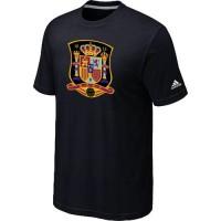Adidas Spain 2014 World Short Sleeves Soccer T-Shirts Black