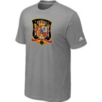 Adidas Spain 2014 World Short Sleeves Soccer T-Shirts Light Grey