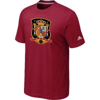 Adidas Spain 2014 World Short Sleeves Soccer T-Shirts Red