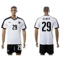 Austria #29 Almer White Away Soccer Country Jersey