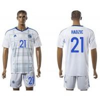Bosnia Herzegovina #21 Hardzic Away Soccer Country Jersey
