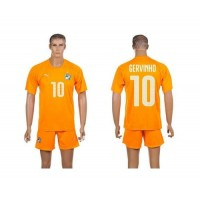 Cote d'lvoire #10 Gervinho Home World Cup Soccer Country Jersey