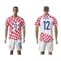 Croatia #12 Kalinic Home Soccer Country Jersey