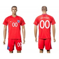 England Personalized Away Soccer Country Jersey