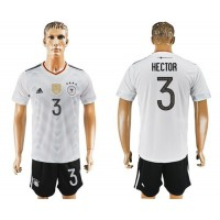 Germany #3 Hector White Home Soccer Country Jersey