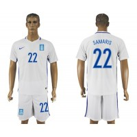Greece #22 Samaris Home Soccer Country Jersey