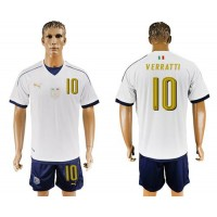 Italy #10 Verratti Away Soccer Country Jersey