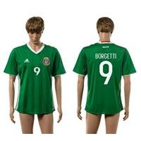 Mexico #9 Jared Borgetti Green Home Soccer Country Jersey
