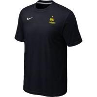 Nike France 2014 World Small Logo Soccer T-Shirts Black